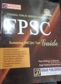 FPSC Screening MCQS Test Guide